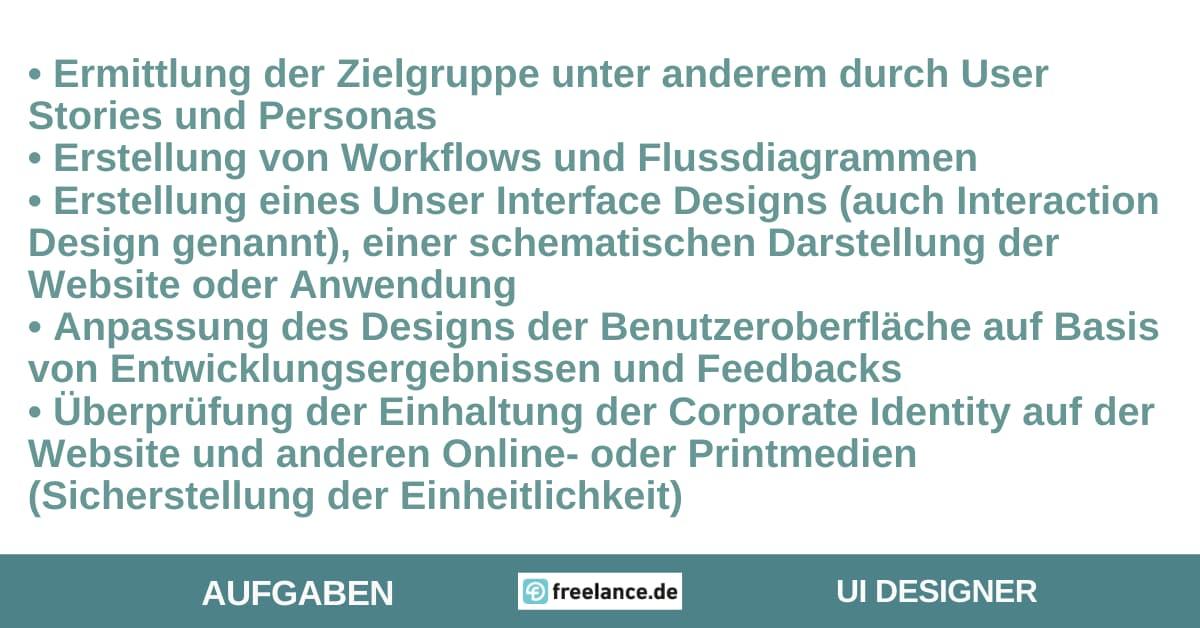 Aufgaben UI Designer