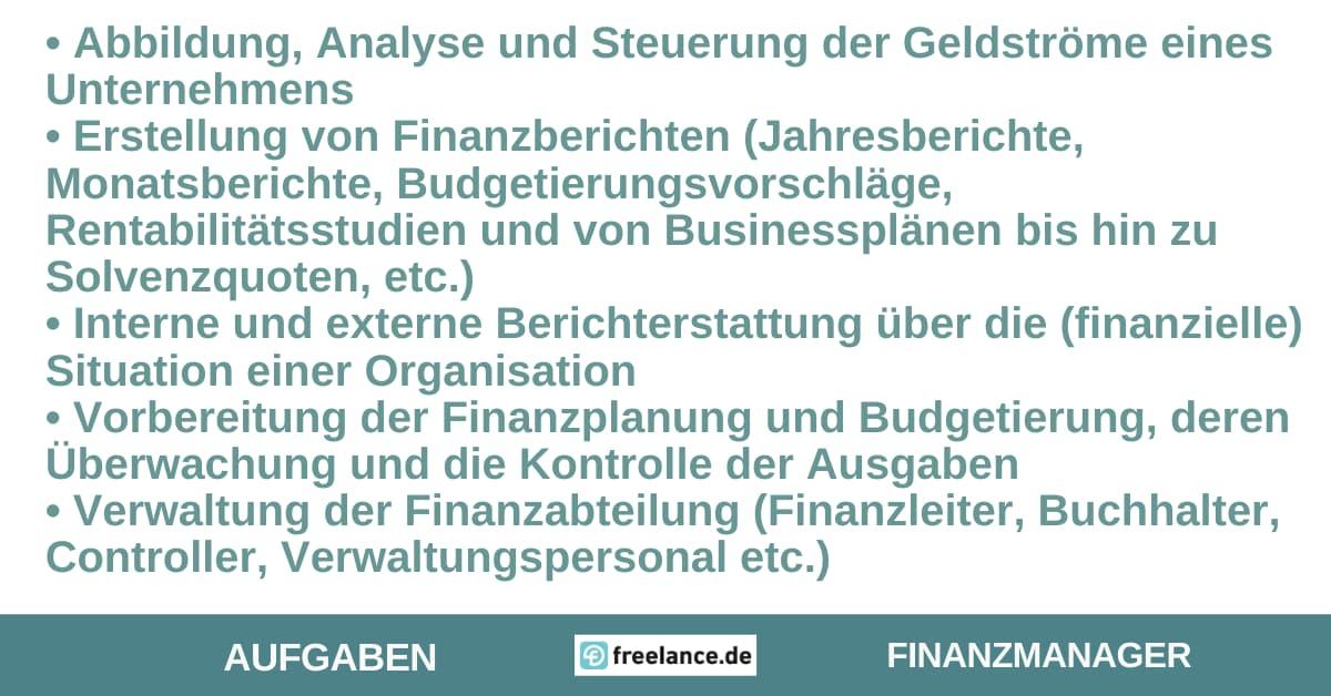 Aufgaben Finanzmanager