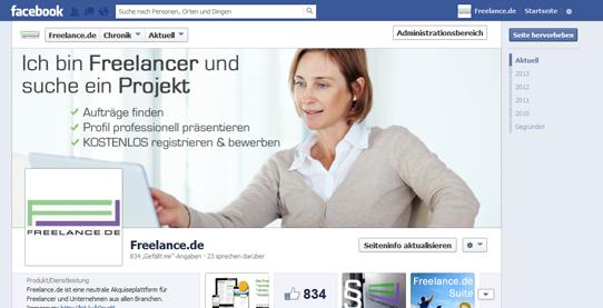 Freelance.de Facebook-Seite