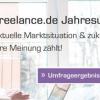 Jahresumfrage bei Freelance.de