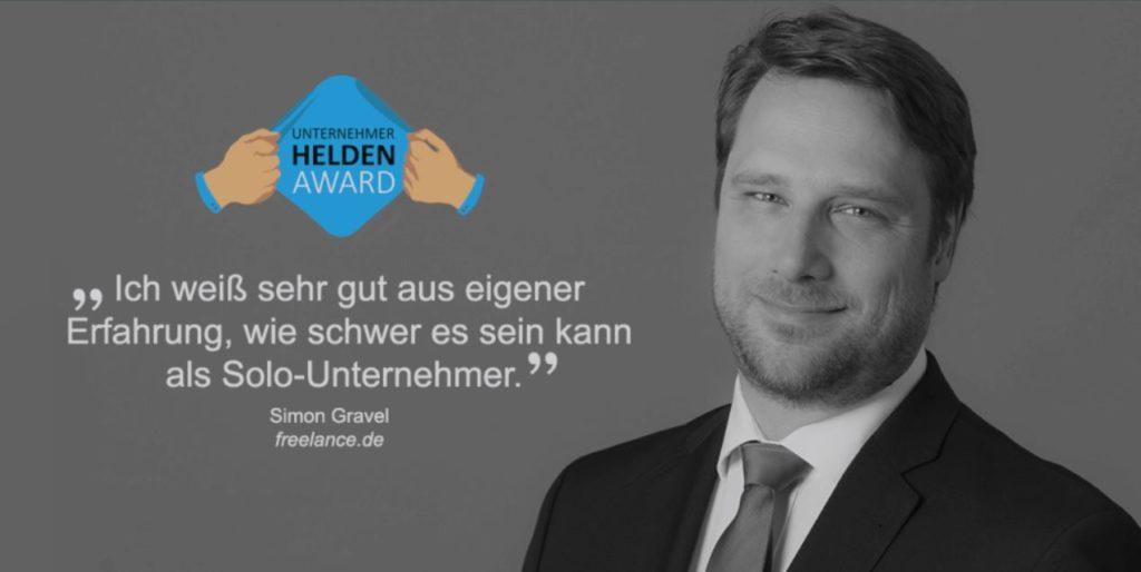 Unternehmerhelden Award - Simon Gravel