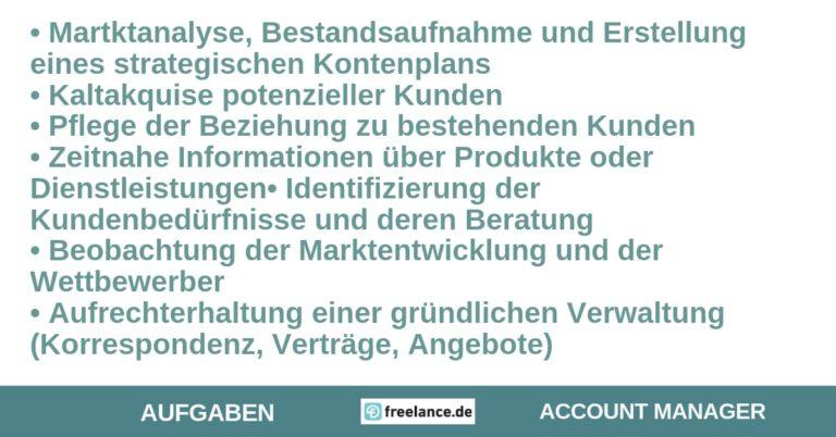 Aufgaben Account-Manager