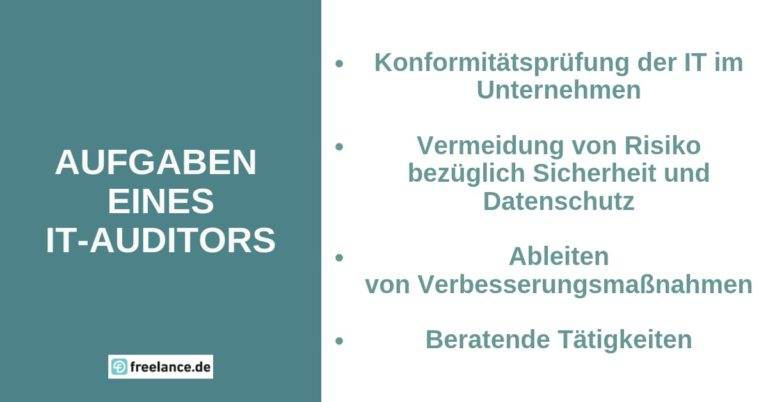 Aufgaben eines freiberuflichen IT-Auditors