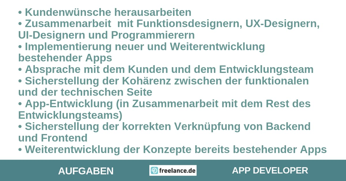 Aufgaben App-Developer