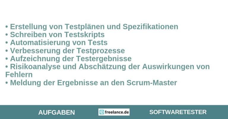 aufgaben softwaretester