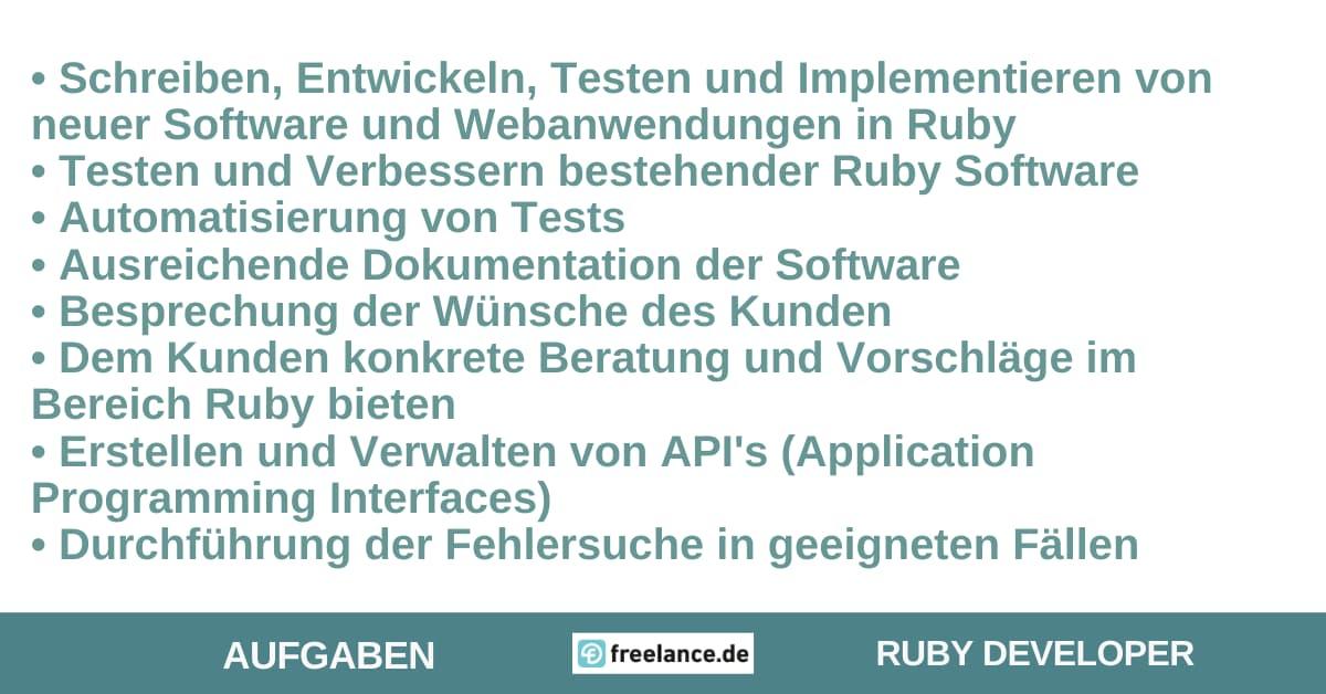 Aufgaben Ruby Developer