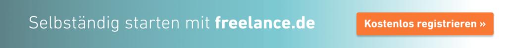 Selbständig werden mit freelance.de - registrieren
