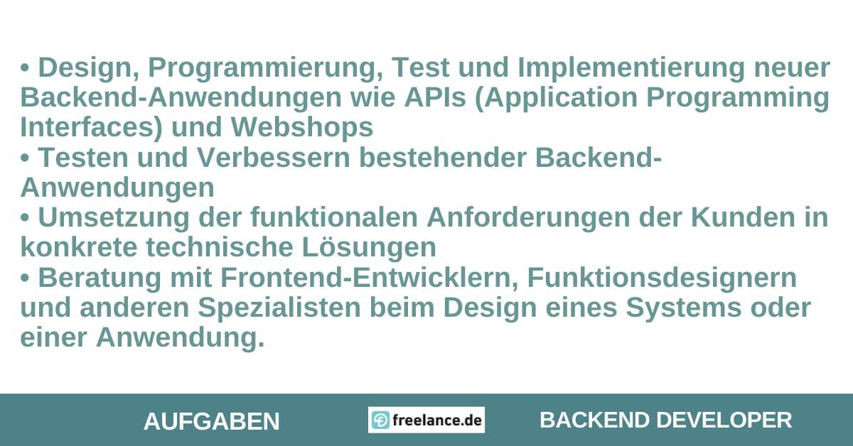 Aufgaben Back-End-Developer