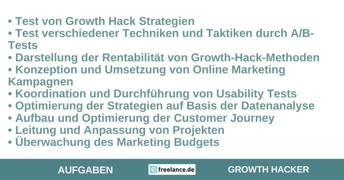 Aufgaben Growth Hacker