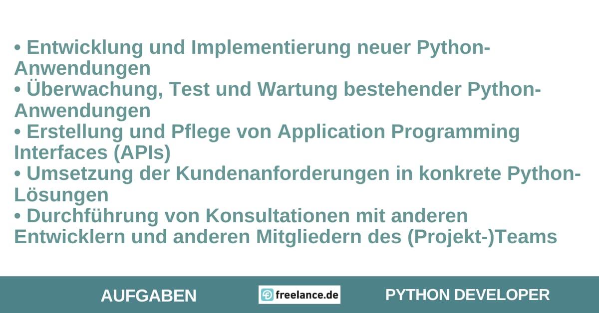 Aufgaben Python Developer
