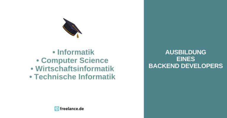 Ausbildung Back-End-Developer