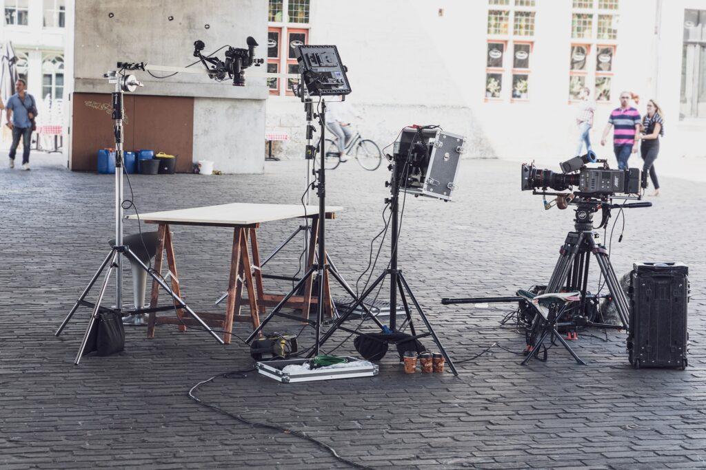 Ausrüstung eines Kameramann