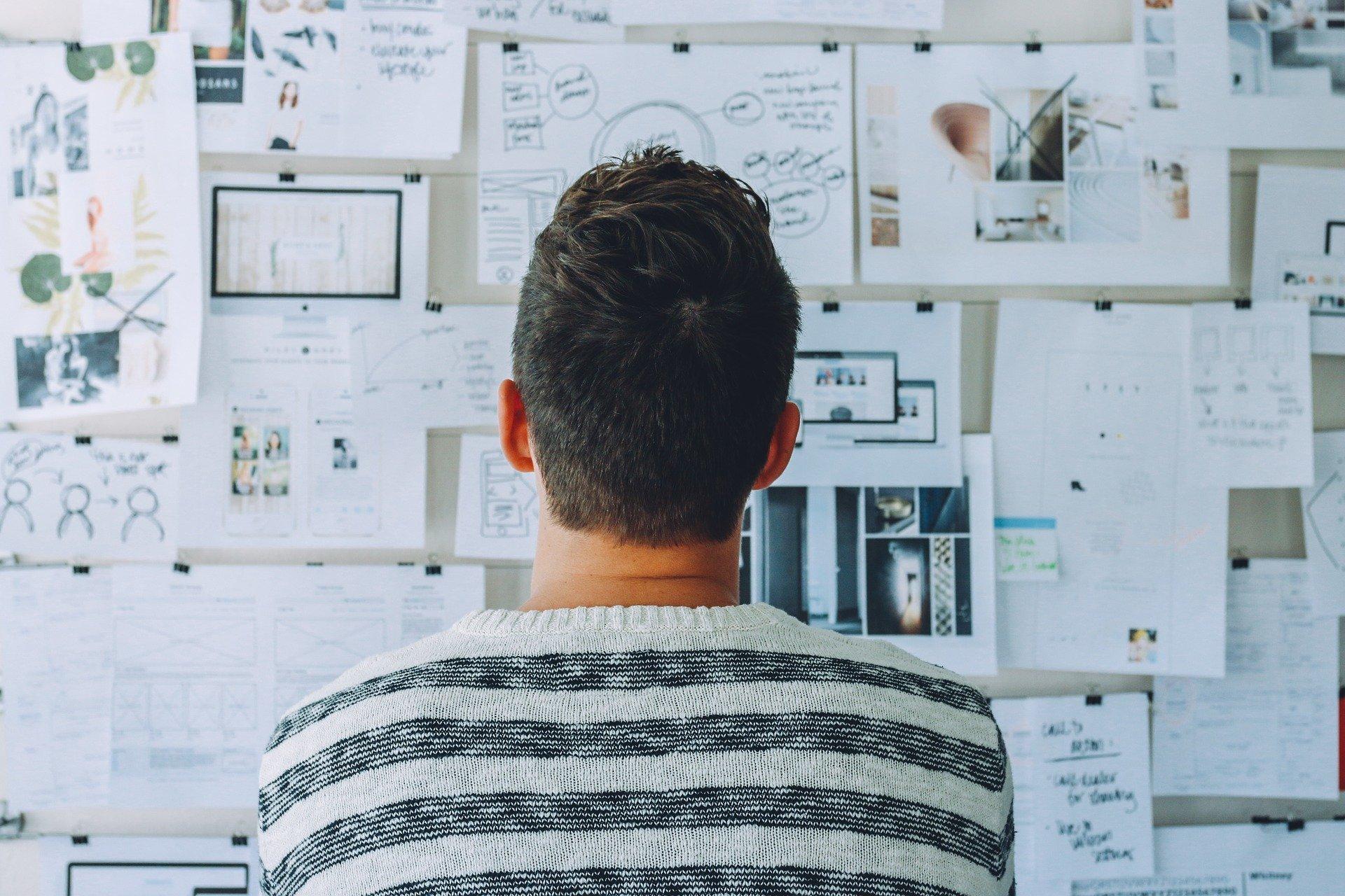 Arbeitsplatz des Produktdesigner