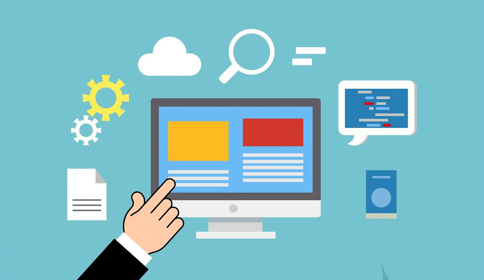 Oracle Datenbank Administrator zeigt auf Bildschirm